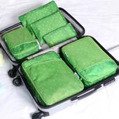 《JTourist》華麗韓版防潑水加厚耐用旅行衣物收納袋6件套超值組(綠)
