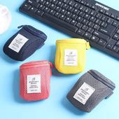 《JTourist》個性撞色滑鼠收納包/數位配件包/小物袋(深藍)