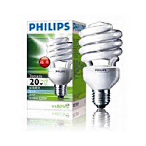 《飛利浦 HELIX》T2 20W省電燈泡(白光)
