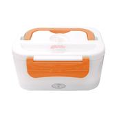 車用電子加熱保溫便當餐盒(橘)
