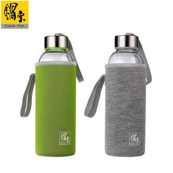 鍋寶 玻璃水瓶2入組(灰+綠)(EO-GS0570GGS0570GE)