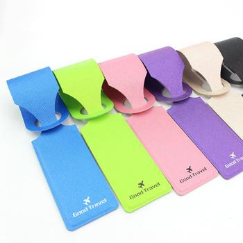 Jtourist 典雅時尚人造皮革行李吊牌(藍)