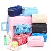 《Jtourist》動感運動風筒形防震盥洗包/化妝包(深藍)