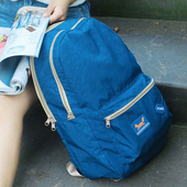 《Jtourist》韓版卡通超大容量多功能防潑水防震休閒後背包(深藍)