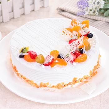 樂活e棧 父親節造型蛋糕-典藏白之翼6吋 蛋糕1顆(水果x布丁)