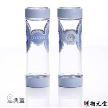 衛元堂 Gootea 茶水分離蝴蝶杯 經典藍 2入 (550±15ml )