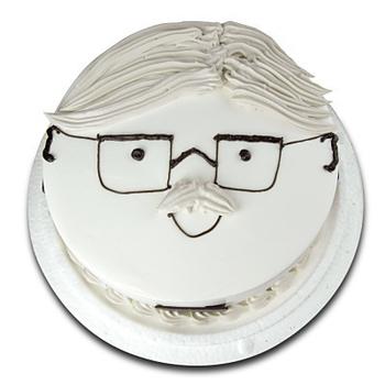 《台灣鑫鮮》幸福爹地臉譜7吋 蛋糕(3天內到貨)