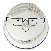 《台灣鑫鮮》幸福爹地臉譜5吋 蛋糕(3天內到貨)
