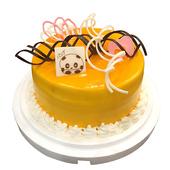 《台灣鑫鮮》夏日芒果淋面5吋 蛋糕(3天內到貨)