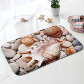 《巴芙洛》3D立體印花法蘭絨地墊*海貝殼款-2片(海貝殼款)