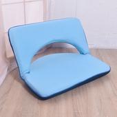《凱堡》簡約素面方型和室椅(藍)