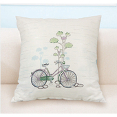 《【巴芙洛】》田園休閒腳踏車-抱枕45X45cm
