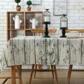 《【巴芙洛】》復古木紋桌巾(120X120cm)