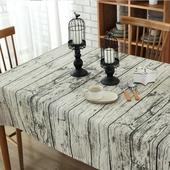 《【巴芙洛】》復古木紋桌巾(120x170cm)