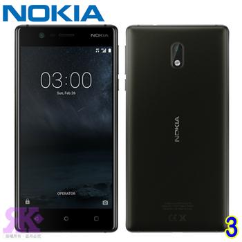 NOKIA 3 5吋四核智慧機-贈手機/平板支架+韓版收納包+奈米矽皂(爵士黑)