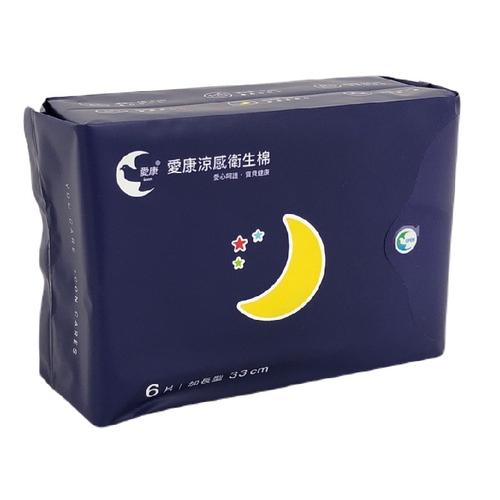愛康 超透氣衛生棉(夜用加長型)(6片/包)
