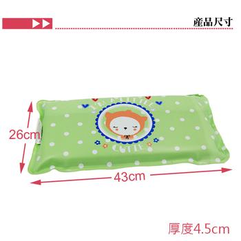 《家可》涼感印花冰枕(大)(粉綠)