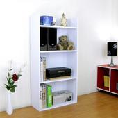 《頂堅》寬60公分(4層美背式)收納櫃/置物櫃/書櫃(素雅白色)(素雅白色)