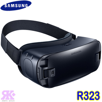 Samsung New Gear VR SM-R323 頭戴式虛擬裝置-贈9000行動電源+奈米噴劑(黑藍)