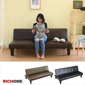 《RICHOME》DM超值時尚沙發床-2色(黑色)