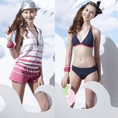 《SAIN SOU》戲水/沙灘/踏浪大女 比基尼 三件式 泳裝/泳衣-附泳帽A93621(M)下單即贈襪子2雙,同訂單滿800再送冰涼巾