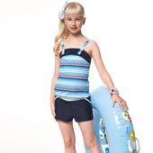 《SAIN SOU》泡湯SPA少女 二件式 連身褲 泳裝/泳衣-附泳帽A92651(S)
