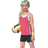 《SAIN SOU》戲水/沙灘/踏浪 少女 二件式 泳裝/泳衣-附泳帽A92647(S)
