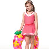 《SAIN SOU》泡湯SPA戲水 女童 連身裙 泳裝/泳衣-附泳帽A88606(10)