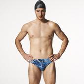 《SAIN SOU》競賽/泳隊/專業用 三角 泳褲-贈泳帽A57501(M)