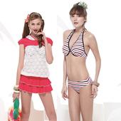 《SARBIS》大女 比基尼 四件式 泳裝/泳衣-附泳帽B94602(L)