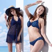 《SARBIS》大女 比基尼 三件式 泳裝/泳衣-附泳帽B93610(M)