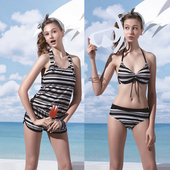 《SARBIS》大女 比基尼 三件式 泳裝/泳衣-附泳帽B93606(M)