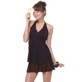《SARBIS》戲水/沙灘/踏浪大女 二件式 泳裝/泳衣-附泳帽B92645(M)下單即贈襪子2雙,同訂單滿800再送冰涼巾