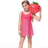 《SARBIS》泡湯SPA戲水 女童 連身裙 泳裝/泳衣-附泳帽B88602(12)