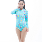 《SARBIS》防曬/衝浪/防水母螫咬大女 連身三角 水母衣B0050-06(M)