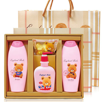 英國貝爾 香氛SPA禮盒-1洗1沐1洗手1皂(含紙袋)