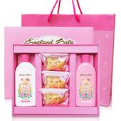 《英國貝爾》倫敦玫瑰沐浴禮盒-1洗1沐3皂(含紙袋) $280