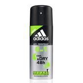 adidas愛迪達 男用6效合一長效制汗爽身噴霧150ml