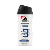 《adidas愛迪達》adidas愛迪達 男用三效保濕潔顏洗髮沐浴露250ml