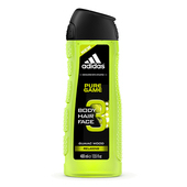 《adidas愛迪達》adidas愛迪達 男用三效潔顏洗髮沐浴露(極限挑戰)400ml