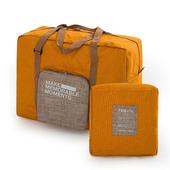 《韓版》復古大容量可摺疊拉桿收納 旅行袋(3色)(黃色)