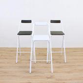 《頂堅》高腳折疊椅/吧台椅/高腳椅/櫃台椅/餐椅/洽談椅/休閒椅/摺疊椅/吧檯椅(三色可選)(白色)