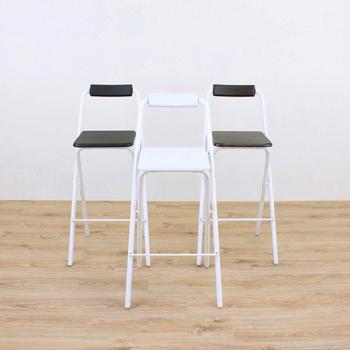 頂堅 高腳折疊椅/吧台椅/高腳椅/櫃台椅/餐椅/洽談椅/休閒椅/摺疊椅/吧檯椅(三色可選)(白色)