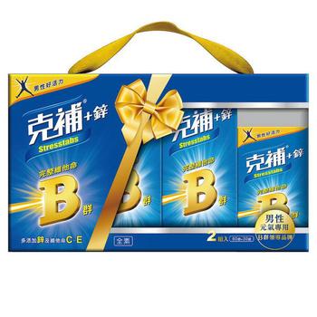 克補鋅 完整維他命B群禮盒(共180錠)-男性適用