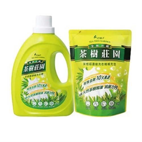 茶樹莊園 洗衣精組合包(正+補)(2000g+1500g/組)