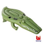 《艾可兒》Bestway巨型鱷魚259cm充氣助浮/浮排/坐騎 游泳圈