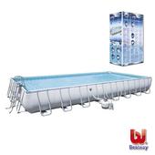 《艾可兒》Bestway大型矩形框架 泳池 游泳池56625E