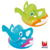 《艾可兒》Bestway象鼻造型 充氣噴水 泳圈-藍/綠(隨機出貨)