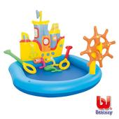 《艾可兒》Bestway充氣船舵造型 戲水池 泳池