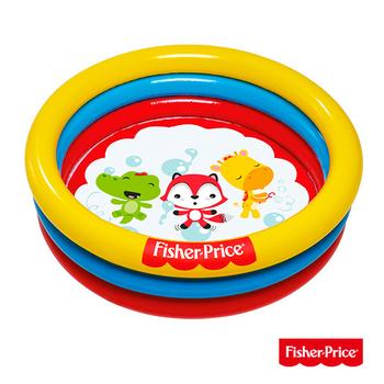艾可兒 Fisher-Price三環充氣 遊戲池、泳池 水池兩用(附25顆球)93501